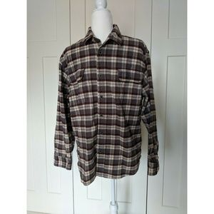 Jachs Mens Plaid Flannel Button Down Shirt Size M